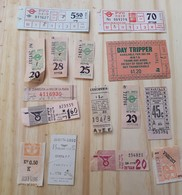 06 LOT OF 15,  ANTIQUE, TICKETS OF BUS, ISRAEL, ITALY, ARGENTINE, AND OTHERS - Titres De Transport
