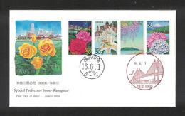 Japan FDC 2004.06.01 Flowers In Kanagawa(Kanagawa Prefecture) - FDC