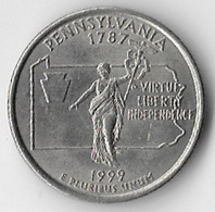 USA Pennsylvania 1999P 25c States [C783/2D] - Federal Issues