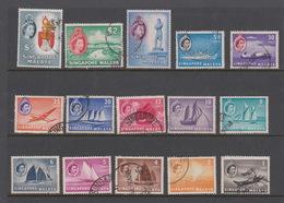 Singapore 41-55 1955 Queen Elizabeth II Definitives,used - Singapore (1959-...)