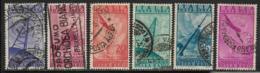 Italy, Scott # C116-121 Used  Radio On Land, Sea, Skies, 1947 - 6. 1946-.. Republic