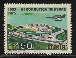 Italy, Scott # C140 Used Plane Over Aeronautical Academy, 1973 - 6. 1946-.. Republic