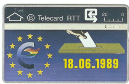 1989 : 904D I SMALL Ctrl: 904D00798 (I) S5 Europa 18.06.89 (from 0-40000 Inverted) USED (Printed:40000) - Belgio