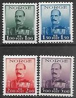 Norway  1937-8   Sc#162-4, 177-80 Haakon Set  MNH  2016 Scott Value $25 - Norway