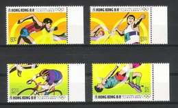 HONG KONG  /  1992  OLYMPIC  GAMES  /  Faciale : 9 $ 90  ( 4 Timbres ) - Hong Kong (1997-...)