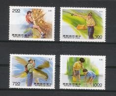CHINE  /  Activités De PLEIN AIR  ( Escalade-varappe, Pêche Et Randonnée ) / Faciale : 22.50 YUAN ( Série De 4 Timbres ) - 1949 - ... République Populaire
