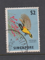 Singapore 80 1962-66 Fishes Orchids And Birds Definitives,$ 2 Yellow Breasted Sunbird  Used - Singapore (1959-...)