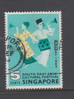 Singapore 92 1963 South East Asia Cultural Festival,used - Singapore (1959-...)