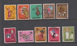 Singapore 105-114 1968 Masks And Dances Definitives,6c Lion Dance,used - Singapore (1959-...)