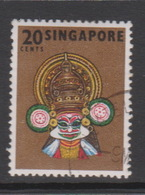 Singapore 109a 1968 Masks And Dances Definitives,20c Kathak Kali,perf 13,used - Singapore (1959-...)