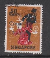 Singapore 112a 1968 Masks And Dances Definitives,50c Tari Lilin ,perf 13,used - Singapore (1959-...)