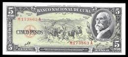 CUBA. Cuban Banknote Of Maximo Gomez Of 5 Pesos With Signature Of Che Guevara. Havana. 1960. AUNC - Cuba
