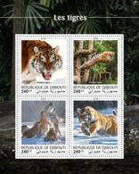 Djibouti 2018 Tigers Fauna  S201810 - Djibouti (1977-...)