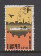 Singapore 125 1969 150th Anniversary Of Foundation Of Singapore,15c Industrialisation ,used - Singapore (1959-...)