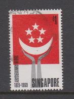 Singapore 128 1969 150th Anniversary Of Foundation Of Singapore,$ 1.00 Self Government ,used - Singapore (1959-...)