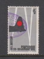 Singapore 129 1969 150th Anniversary Of Foundation Of Singapore,$ 5.00 Japanese Occupation ,used - Singapore (1959-...)