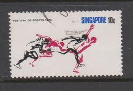 Singapore 143 1970 Festival Of Sports 10c Athletics ,used - Singapore (1959-...)