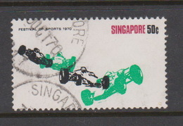 Singapore 146 1970 Festival Of Sports 50c Motor Racings ,used - Singapore (1959-...)