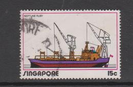 Singapore 189 1972 Shipping,15c  Neptune Ruby ,used - Singapore (1959-...)