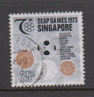 Singapore 211 1973 SEAP Games,25c Ball Games,used - Singapore (1959-...)