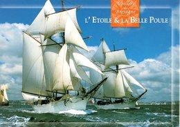 Voiliers De Bretagne L'etoile Et La Belle Poule Les Deux Goelettes De 1931 Voiliers Ecole De La Marine   CPM Ou CPSM - Bretagne