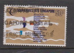 Singapore 213 1973 SEAP Games,50c Swimming,used - Singapore (1959-...)