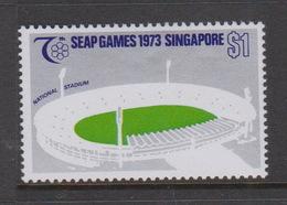 Singapore 214 1973 SEAP Games,$ 1.00 National Stadium,mint Hinged - Singapore (1959-...)