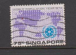 Singapore 244 1974 National Day75c  World Population Map,Used - Singapore (1959-...)