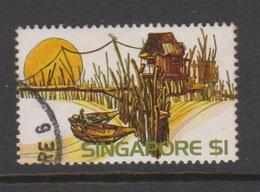 Singapore 252 1975 Scenic,$ 1.00 Kelong,used - Singapore (1959-...)