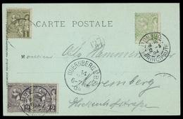 1904, Monaco, 11, 12 (2) U.13, Brief - Monaco