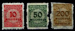 Germany 1923, #301,303,304, Unused, NH - Ungebraucht