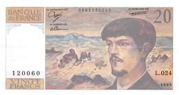 20 Francs DEBUSSY - 1962-1997 ''Francs''