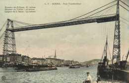 ROUEN  Pont Transbordeur Bateaux Colorisée RV - Rouen