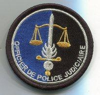 G53 PATCH ECUSSON GENDARMERIE OFFICIER POLICE JUDICIAIRE VELCRO NOIR - Police & Gendarmerie
