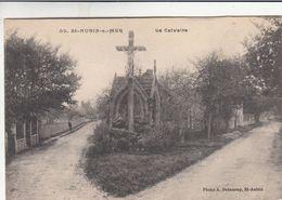 Cp , 14 , SAINT-AUBIN-sur-MER , Le Calvaire - Saint Aubin