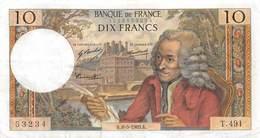 FRANCE 10 Francs VOLTAIRE - 1962-1997 ''Francs''