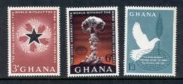 Ghana 1962 World Without Atomic Bomb MUH - Ghana (1957-...)