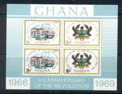 Ghana 1969 Revolution 3rd Anniv. MS MUH - Ghana (1957-...)