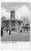 (RECTO / VERSO) LUDWIGSHAFEN EN 1960 - FRIEDENSKIRCHE - PLIS ANGLE HAUT A GAUCHE - BELLE FLAMME - FORMAT CPA VOYAGEE - Ludwigshafen
