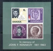 Ghana 1965 JFK In Memoriam MS MUH - Ghana (1957-...)