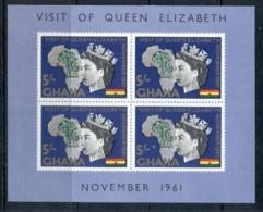 Ghana 1961 Royal Visit MS MUH - Ghana (1957-...)
