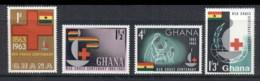 Ghana 1963 Red Cross Centenary MUH - Ghana (1957-...)