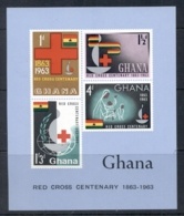 Ghana 1963 Red Cross Centenary MS MUH - Ghana (1957-...)