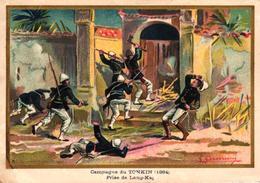 CHROMO - CAMPAGNE DU TONKIN 1884 - Trade Cards