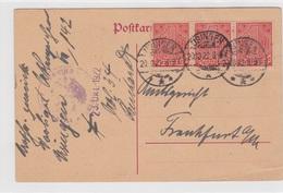 Usingen/Ts., Postkarte Von 1922 - Historische Dokumente