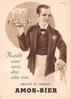 Publicitaire . N° 51736 . Amos-bier. Biere . Alcool - Advertising