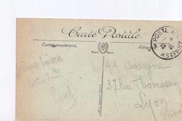 Calais La Place D'Armes, Avec Cachet Service Des Chemins De Fer, La Commissaire Militaire - Marcophilie (Lettres)