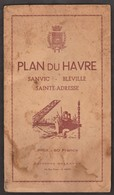 Le Havre _ Sainte-Adresse _ Bléville _ Sanvic -- Plan Avec Nomenclature Et Appendice _ 1950 ? _ Carte éditions Bellevue - Cartes Géographiques
