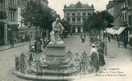 56 - LORIENT - Statue De Victor Massé. Cours De La Bôve Et Théatre - Lorient