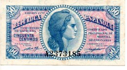 REPUBLICA ESPAGNOLA   50 CENTIMOS - [ 3] 1936-1975 : Regency Of Franco